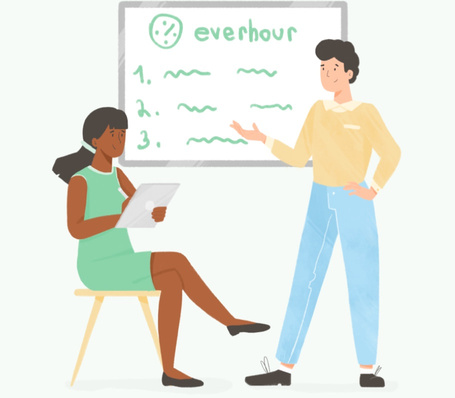 All Everhour features illustration