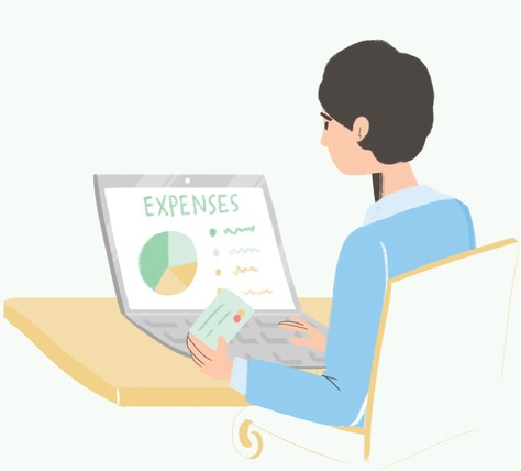 expenses tracking illustration