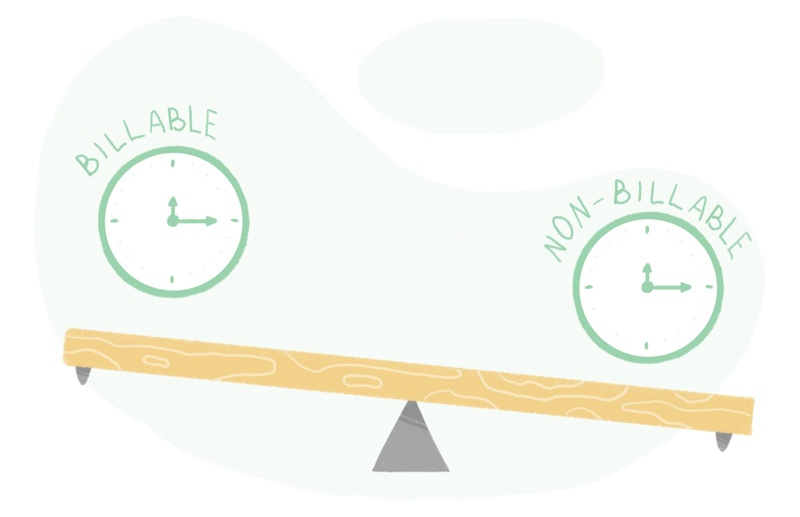 Balancing billable and non-billable hours