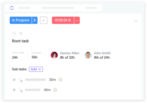 Works with subtasks