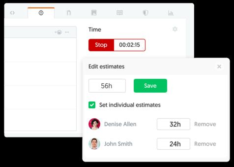 GitHub time tracking and estimates