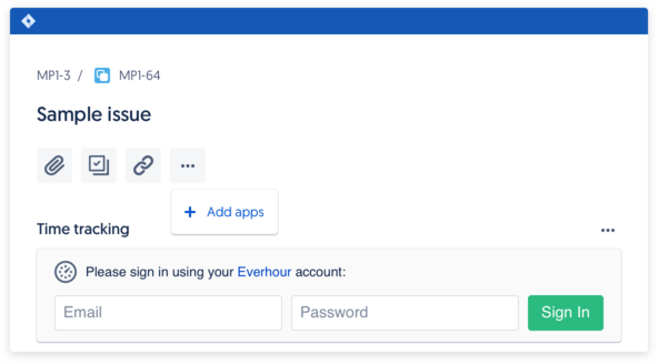 Signup with Everhour and install our native Jira plugin