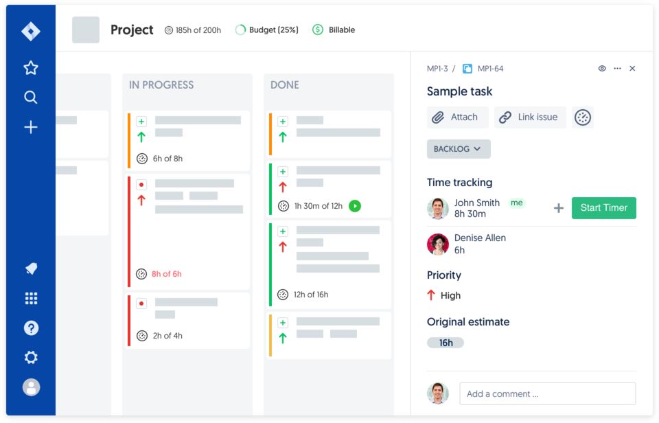 Time tracking software for Jira