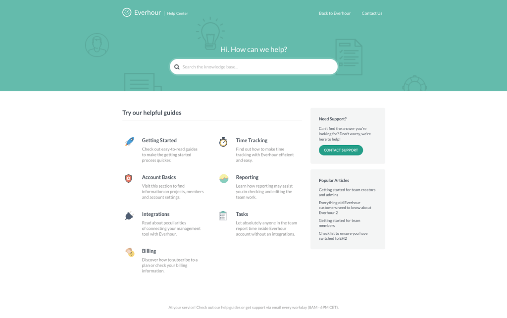 tools we use at Everhour - KnowAll WP Theme