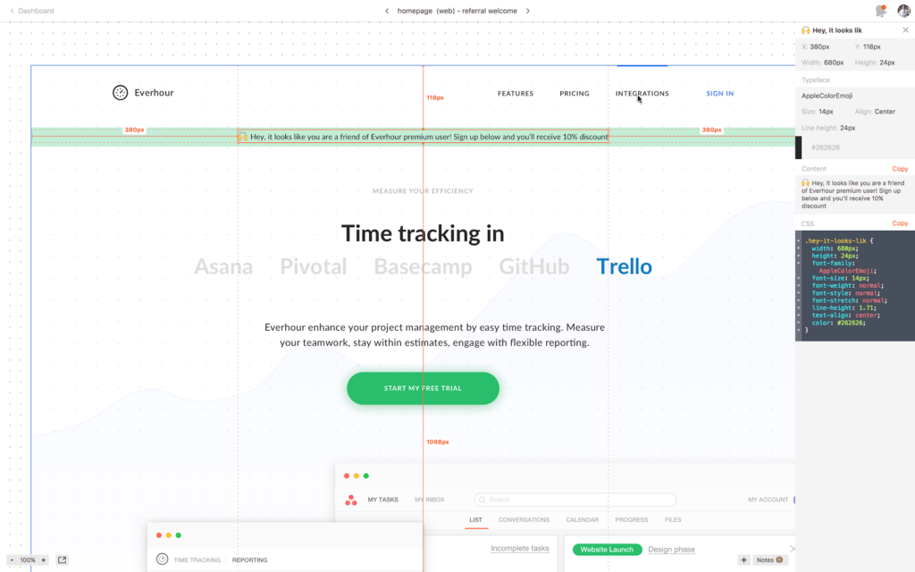 tools we use at Everhour - Zeplin