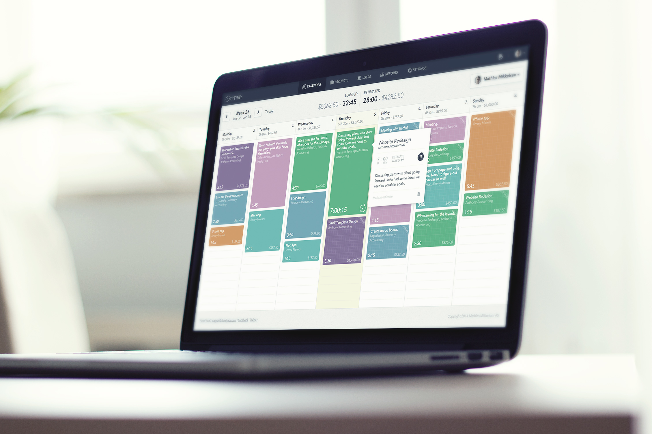 time tracking software - timely