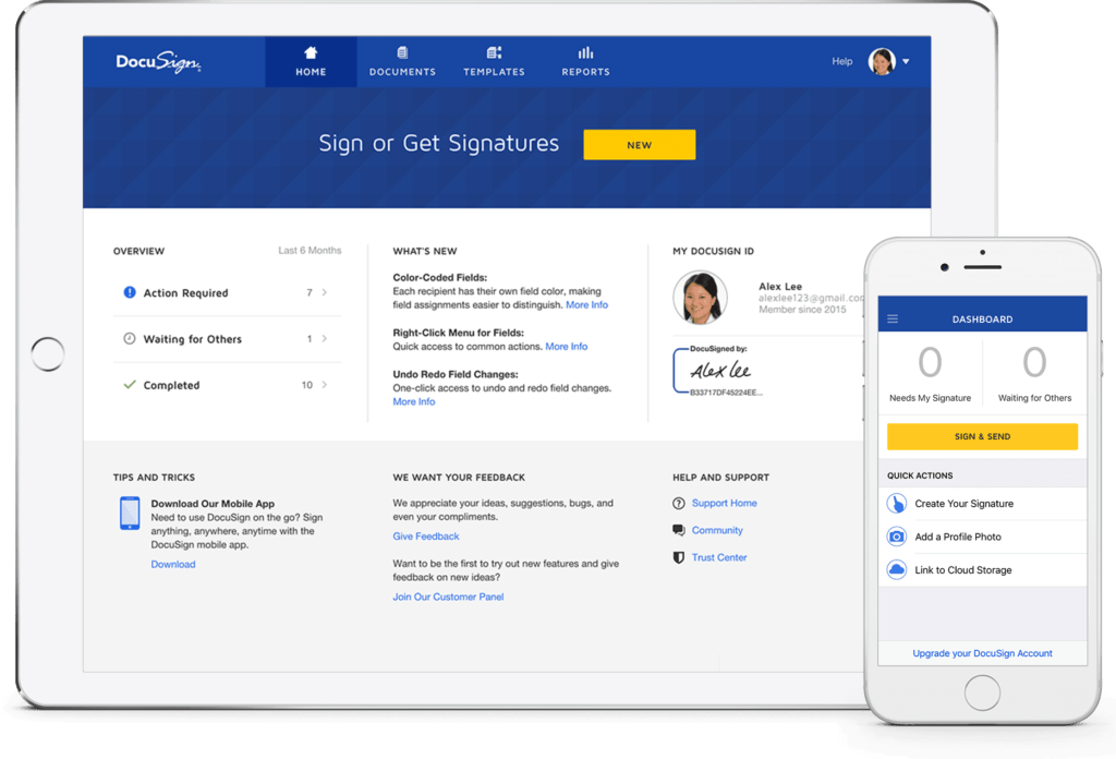e-signature apps - docusign