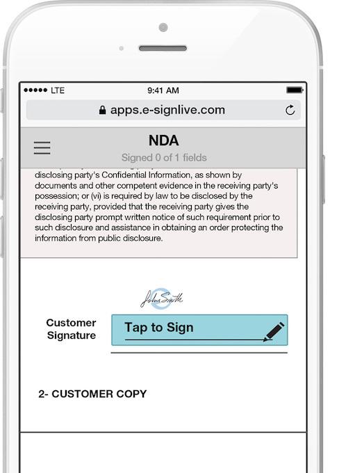 e-signature apps - eSignLive