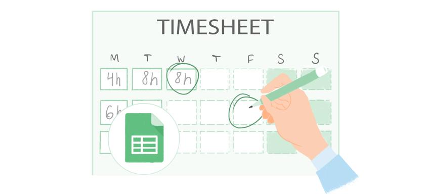 google timesheet template