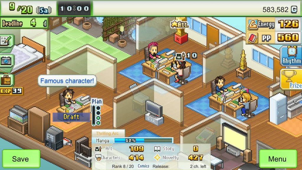 Time Management Games - Game Dev Story