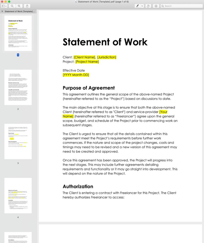 Statement of Work Еуьздфеу