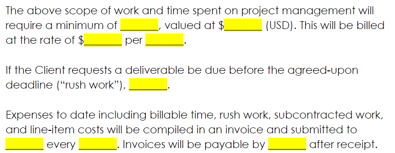 statement of work - deliverables