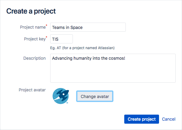 how to use Jira - create a project