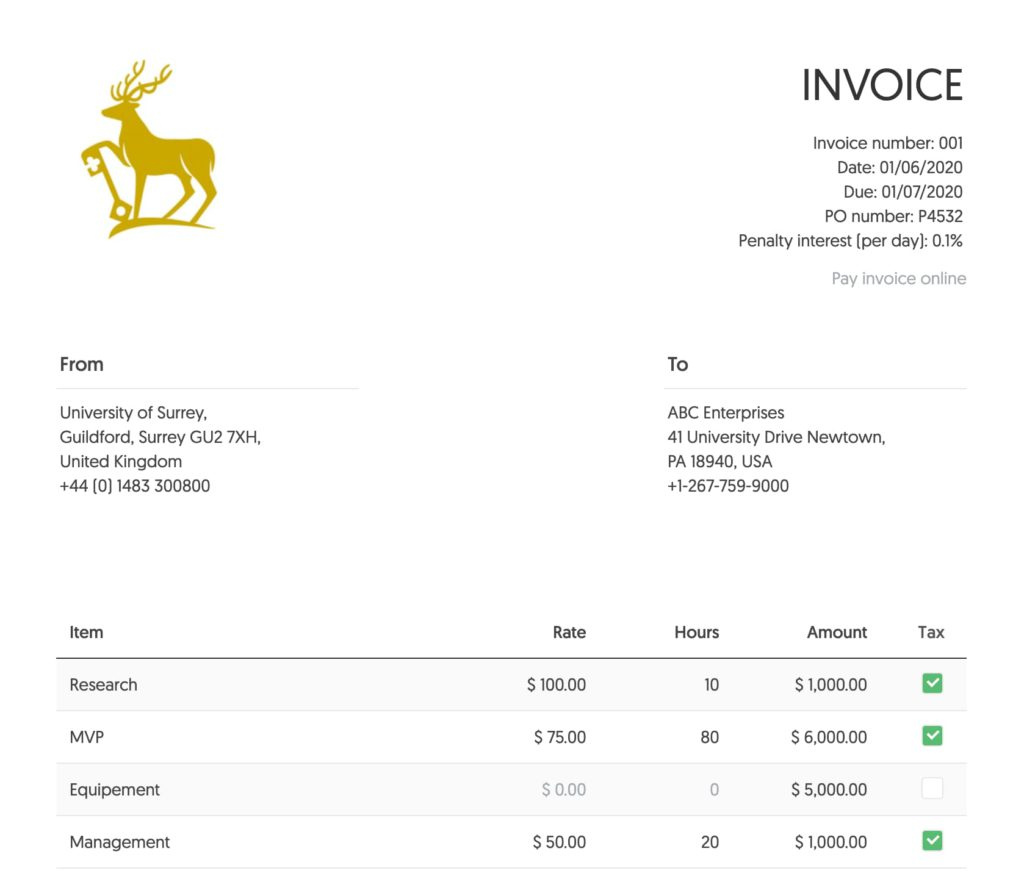 Free Invoice Template For Google Docs By Everhour 2021 Update