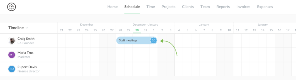scheduled tasks now sync into timesheet