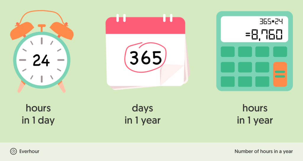 how many hours in a year