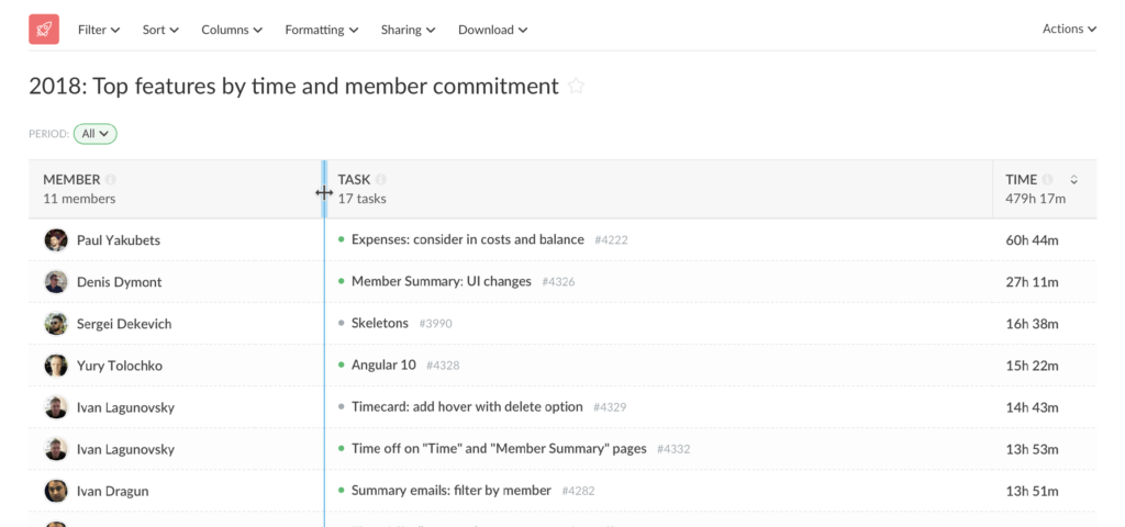 custom column width and other updates