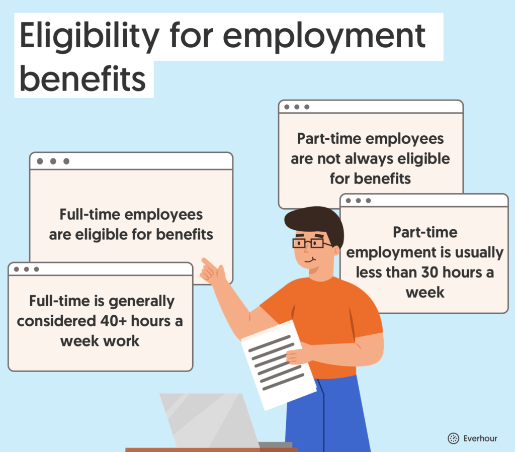 eligibility for employment benefits for part-time and full-time employees