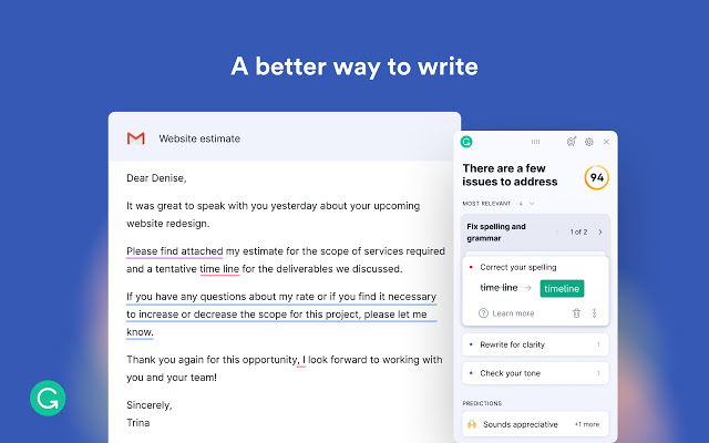 Best Chrome Extensions - Grammarly