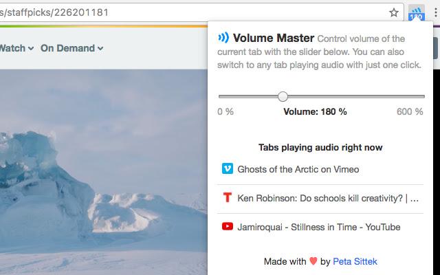 Best Chrome Extensions - Volume Master