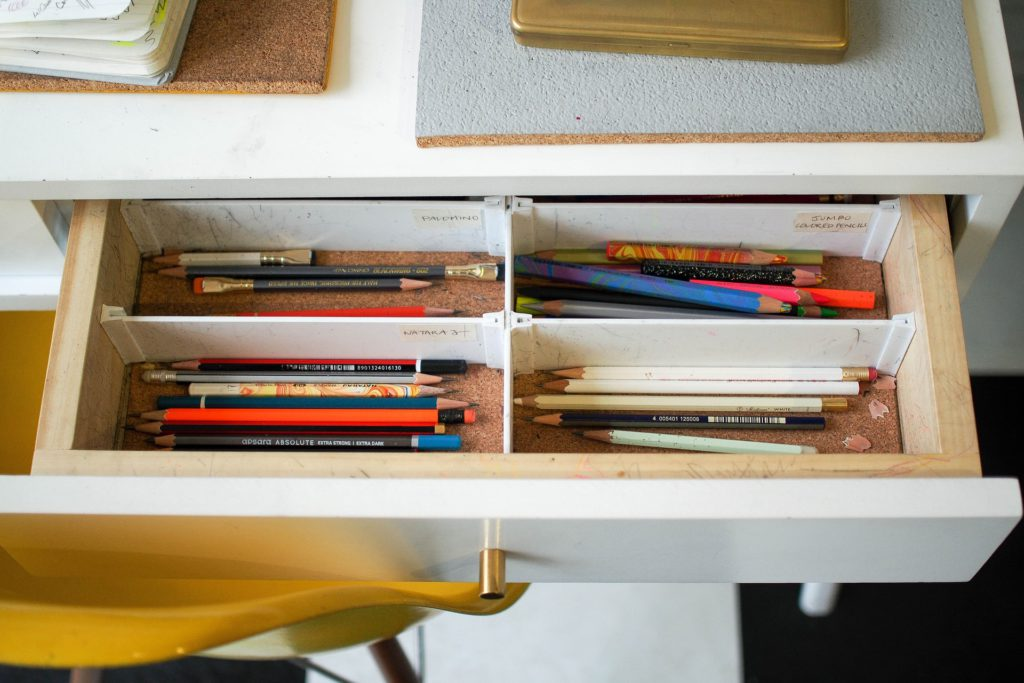 home office organization system: compartment drawers