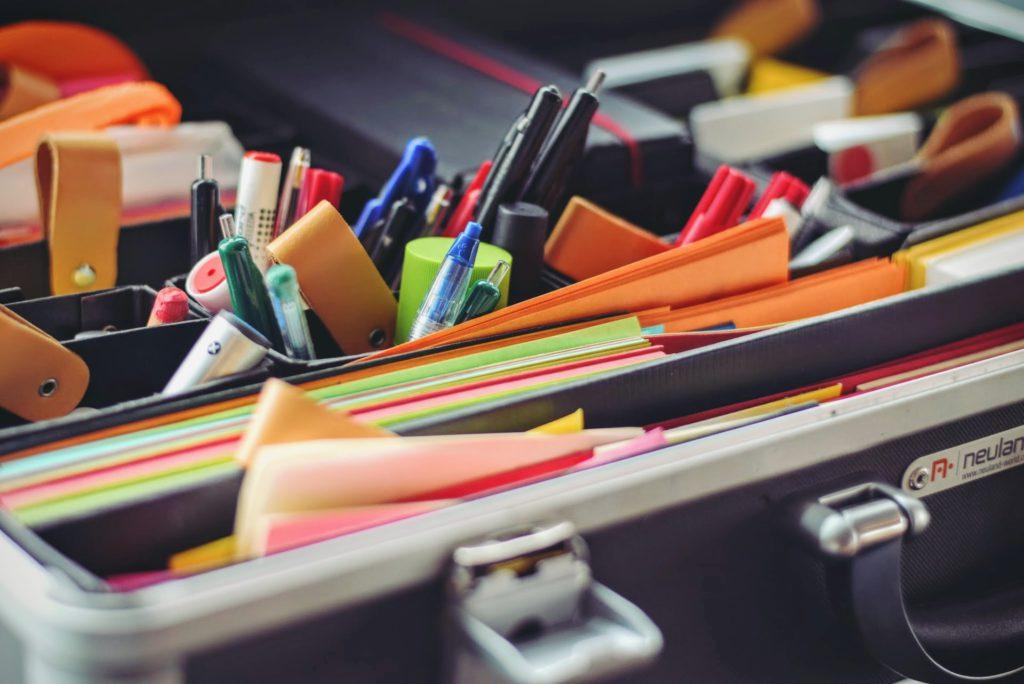 home office organization system: file organizer