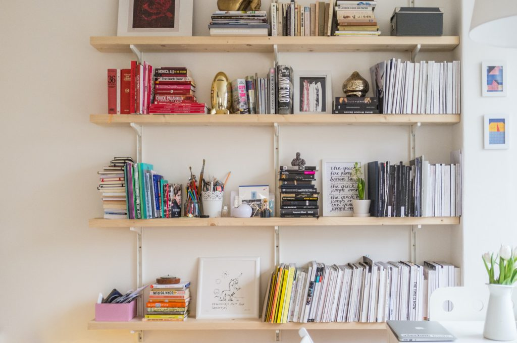 home office organization system - shelving