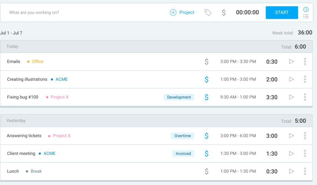 timesheet app clockify
